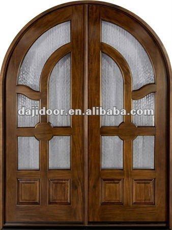 Cristal biselado inserta arco principal puertas de madera for Arcos de madera para puertas