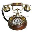 Artesanato em madeira telefone de mesa antigo bétula artesanato