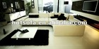 modern design italian leather sofa white luxury italian furniture C126