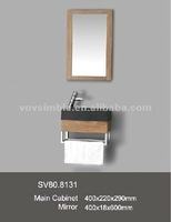 SIMBLE high grade solid oak bathroom vanity cabinet with stainless towel bar,sanitary ware !