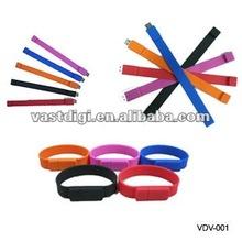 Promotion wrist band +colorful +customize usb flash drive