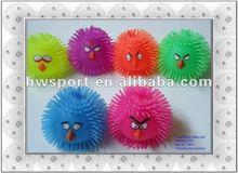 small birds animal puffer ball toy,flashing puffer ball,squishy ball