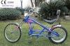 26 inch hot sale blue chopper bike
