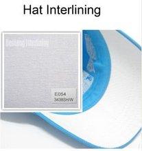 very stiff hat interlining fabric