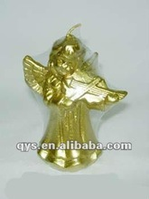 music gold angle decorative candle