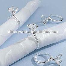elegant diamond crystal napkin ring for wedding gift