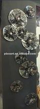 stainless steel lotus wall art,decoration metallic wall sculpture