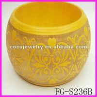 New design/unfinished wooden bangle/wholesale wooden bracelet