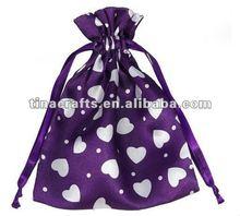 Custom satin gift bag