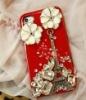Beautiful design diamond studded cellphone case for Iphone4