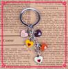 Wholesale Promotion Zinc Alloy Metal Enamel Heart Shape Keychain Manufacturers In China