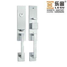 Best seller European style stainless steel steel and steel wiredrawing large plate reversible mortise door lock