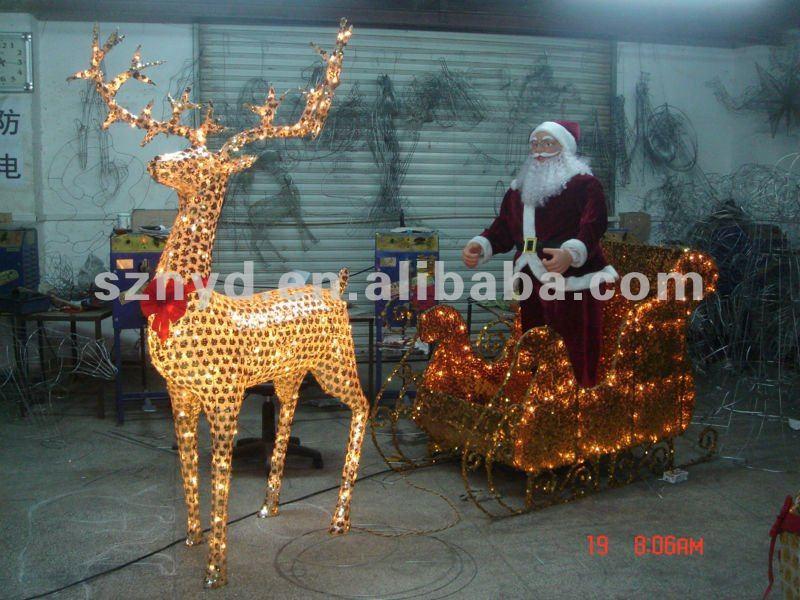 enfeites de natal para jardim iluminados : enfeites de natal para jardim iluminados:Lighted Deer Christmas Decorations