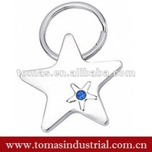2012 fashion star shape key ring metal for business gift