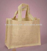 JUTE FABRIC handbag , natural and biodegradable jute bag