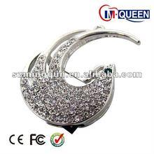 peacock swan tranparent crystal brooch diamond jewelry usb flash drive / key disk / memory stick