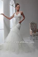 A6546 Guangzhou Stephanie 2012 New Arrival Halter Neckline Mermaid Wedding Dress