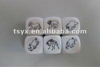 custom logo plastic dice