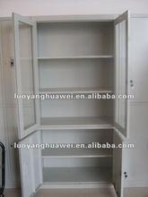 Glass steel 4-door office storage file cabinet furniture