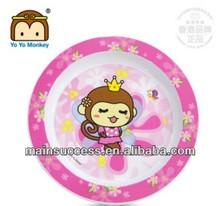 BPA FREE PP Round IML Baby Feeding Plate