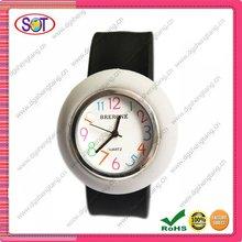 Cheap white&black silicone slap watch 2012
