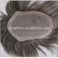 2012 de moda de alta calidad 100% brasileño pelo pelucas peluca de reemplazo para los hombres