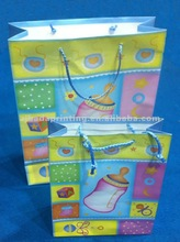 Custom XMAS Shopping Gift Paper Bag For Supermarket