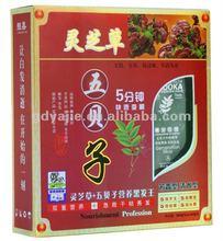 Glossy ganoderma and Wubeizi herbal extract black hair dye cream