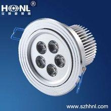 5x1W LED down light 400Lumen CE ROHS factory led lighting