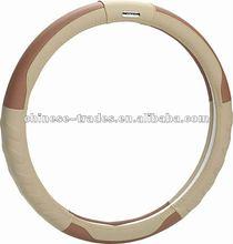 Heated genuine leather car steering wheel cover