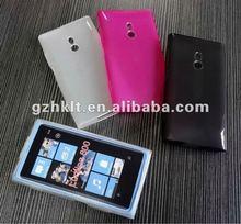 Matte translucent soft tpu skin for Nokia lumia 800