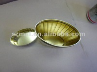 Oval Shaped Tea Tin Container, Oval Tea Tin