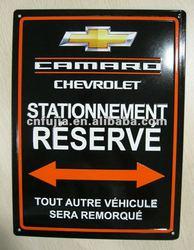 Metal car parking sign ,parking plate ,rectangular tin sign