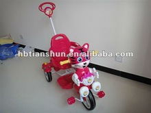 2012 new model plastic kids tricycle with music toy
