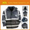 2 IN 1 PROTECTIVE HI-VIZ FLUORESCENT YELLOW / ORANGE BUILDING WORKER JACKETS
