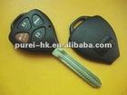 Toyota Carmy car remote control key blank 3+1 buttons toy43 no logo