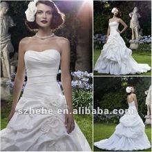 Fabulous 2012 backless draped designer wedding dresses