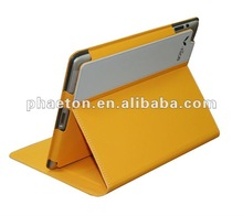 new orange color beautiful pu leather case for ipad2/new ipad