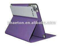 new purple beautiful pu leather case for ipad2/new ipad