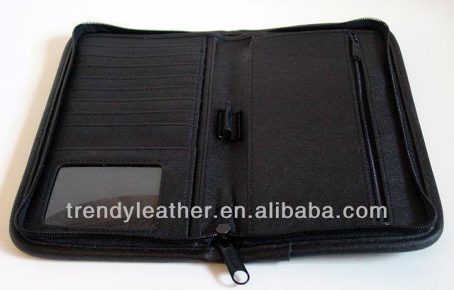 Leather Document Holder For Men Leather Travel Document Holder