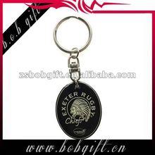 2013 hotest seller custom keychain/ metal promotional keyring