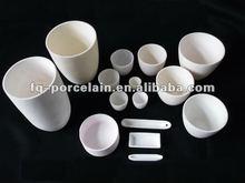 99-99.7% High Purity Alumina Crucible In Round Or Rectangular Shape