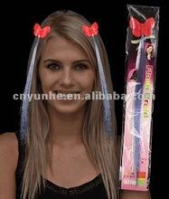 LED flashing Fiber Optic Hairpins Hair Braids for Concert Fans