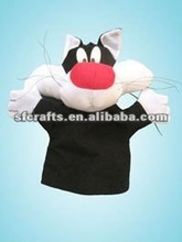 hot design cat hand puppet,2012 Cute cat Hand Puppet &Plush toy for kid