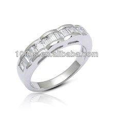 Silver Diamond Ring/ Superior quality jewelry