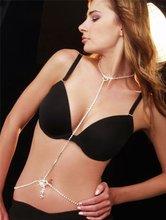 2012 new style Heart Rhinestone Choker Tie And Belt