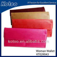Colorful PU leather wallet for ladies