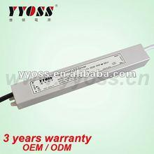 hot sale, waterproof power supply, 12V / 24V DC Aluminum Waterproof 30W LED Power Supply