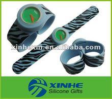 unisex custom slap watch silicone with amazing design