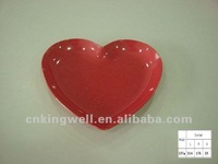 melamine heart shaped dinner plates for weddings